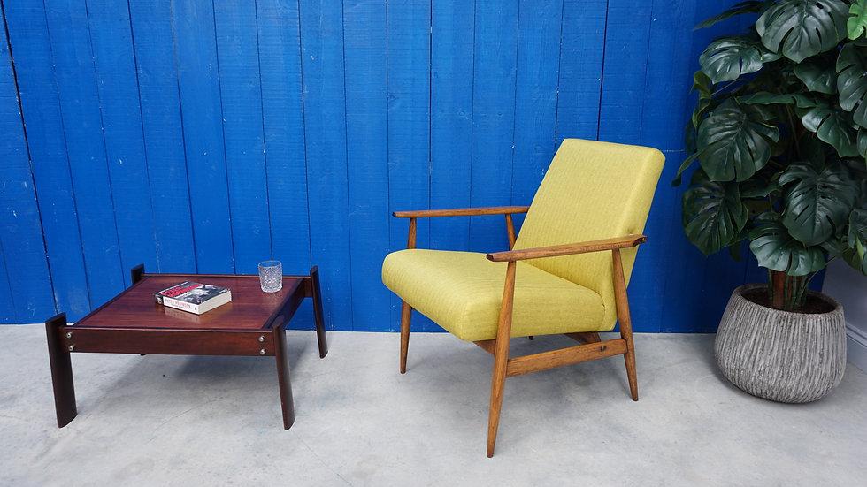 Mid Century Modern Henryk Lis Easy Chair in Green Apple, 1970