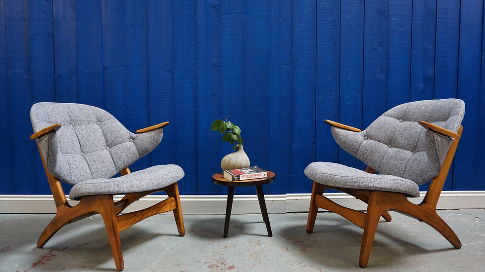 Model - 33, Armchairs by Carl Edward Matthes, 1950s, set of 2