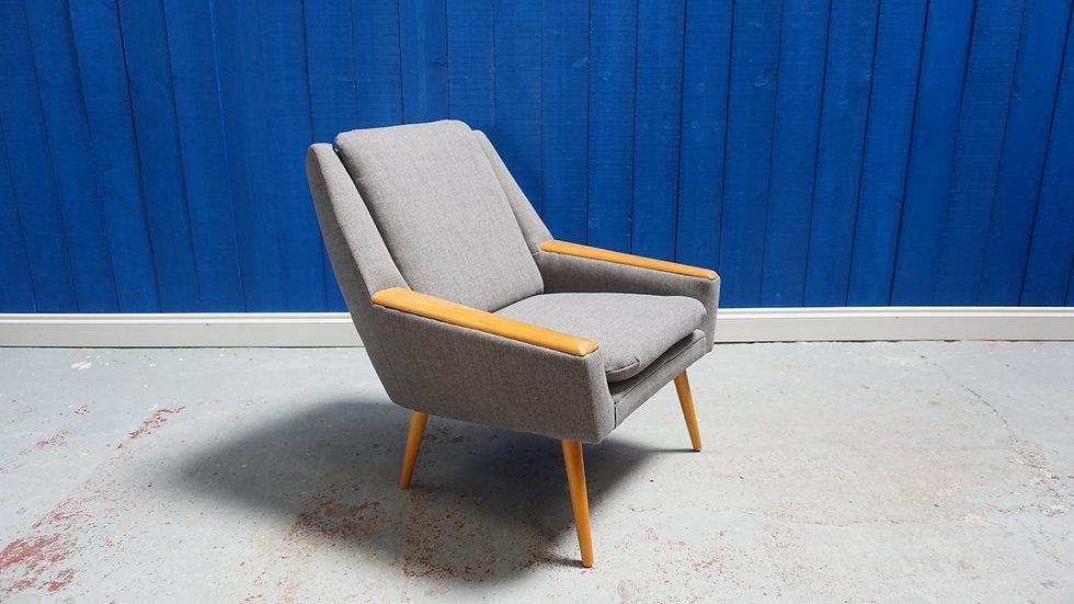 Mid Century Danish Easy Chair 1960s Vintage Modern Armchair