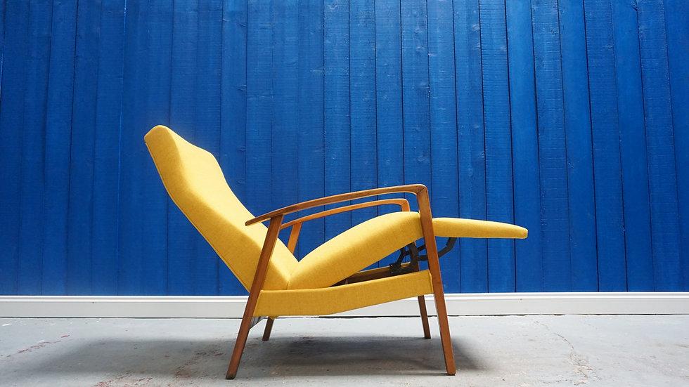 Mid Century Recliner Armchair from 1960 Danish Modern Vintage Design