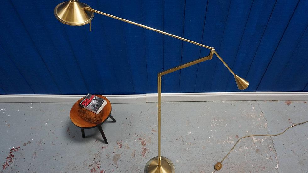 Adjustable Brass Floor Lamp from Sölken Leuchten, Germany 1970's