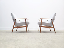 1960 Henryk Lis Mid Century Armchair in Pale Blue