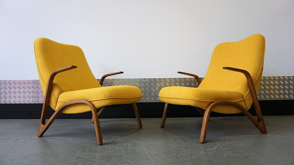 Pair of Paul Bode Lounge Chairs 1955