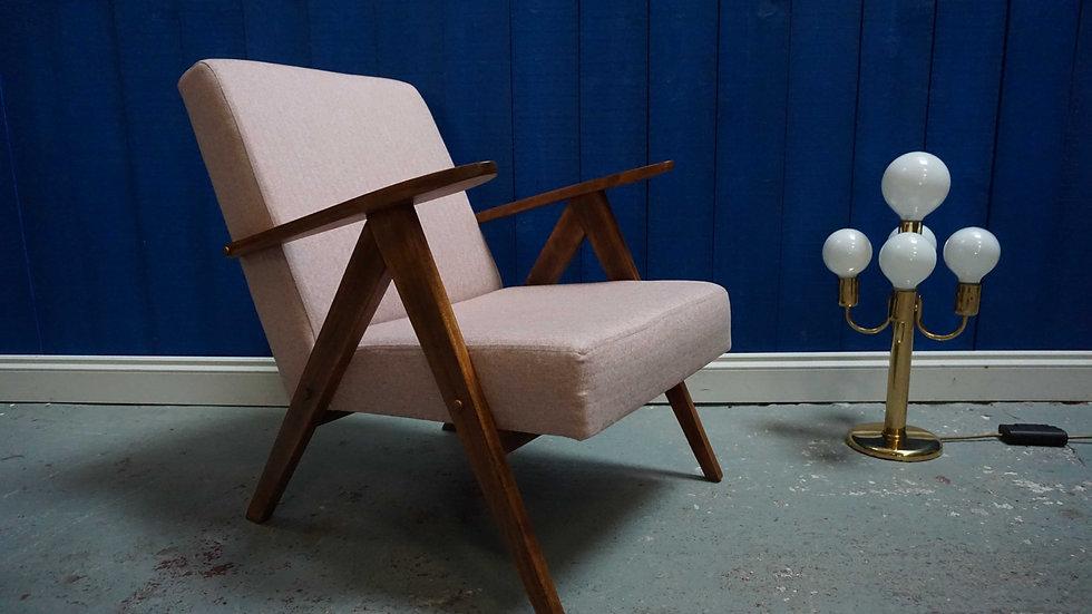 Model B 310 Var Mid Century Modern Easy Chairs In Grey Tweed, 1960 LOFTME