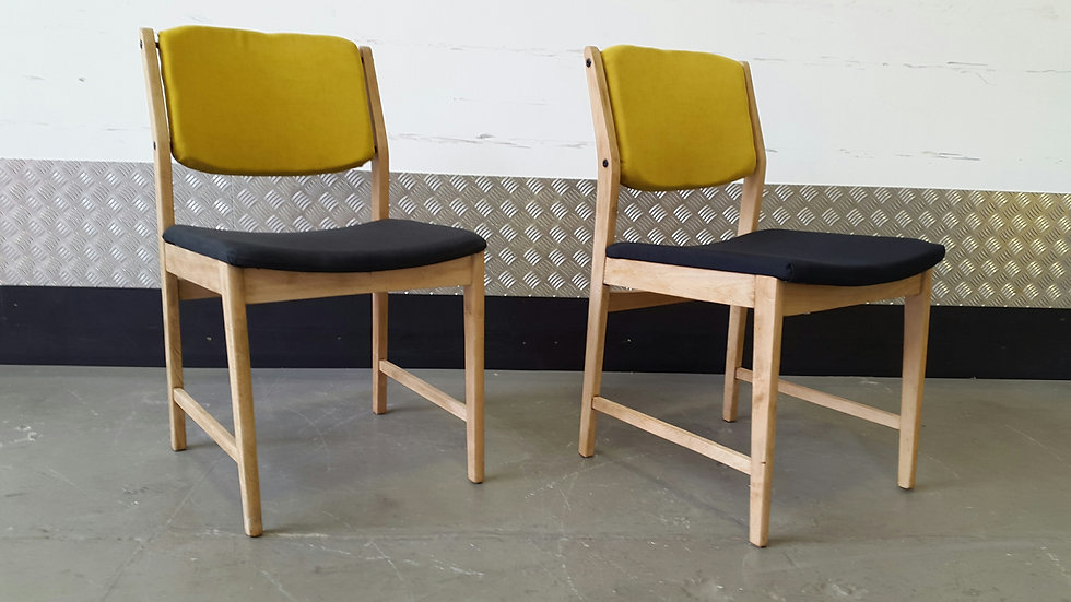 Set of Two Dining Chairs Mid Century 1970's