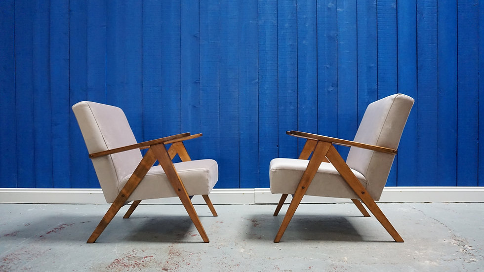 Mid Century Modern Armchairs from 1960's, set of 2