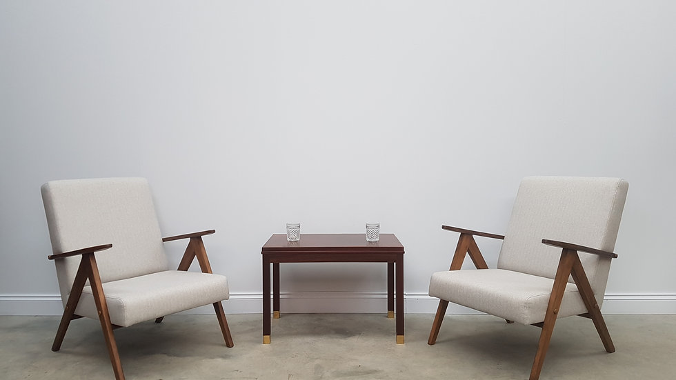 Pair of Mid Century Easy Chairs Model B 310 Var in Beige, 1960