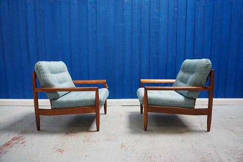 Mid Century Modern Danish Teak Armchair S 1960 S Set Of 2