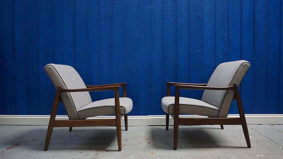 Easy Chairs by Edmund Homa, Model GFM-64 in Grey, 1960's, Set of 2