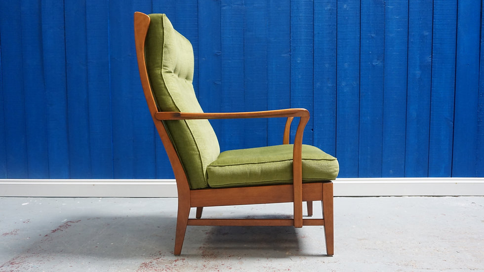 Mid Century Swedish High Back Armchairs 1960s, 1 of 5