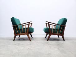 1950 Armchair by Wilhelm Knoll for Antimott in Green Velvet