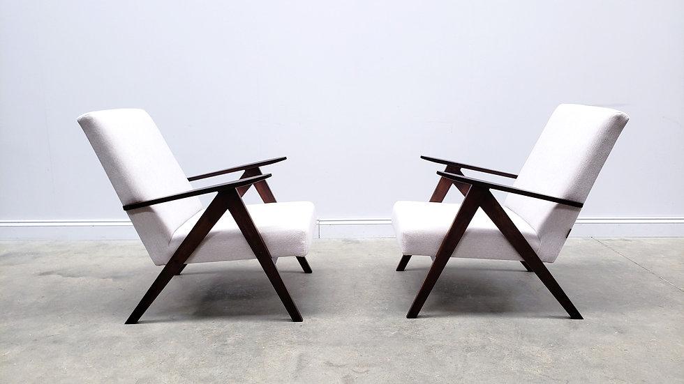 Mid Century Easy Chair Model B - 310 Var in Ash Grey Upholstery