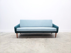 Mid Century Danish Sofa in Light and Dark Turquoise, 1960