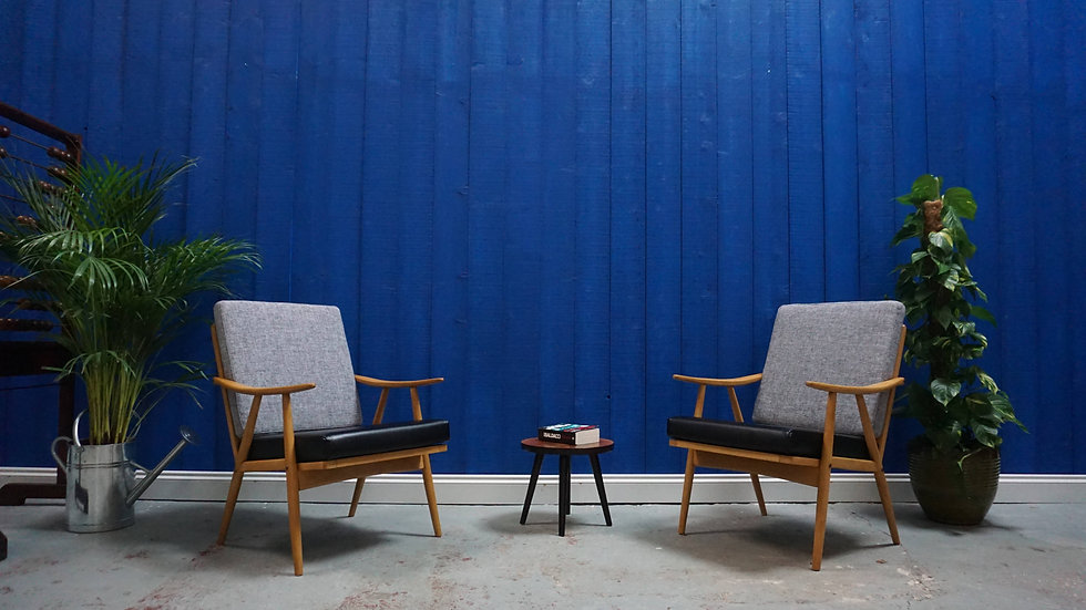 Mid Century Modern Czech Armchairs by Thonet 1960's, Set of 2