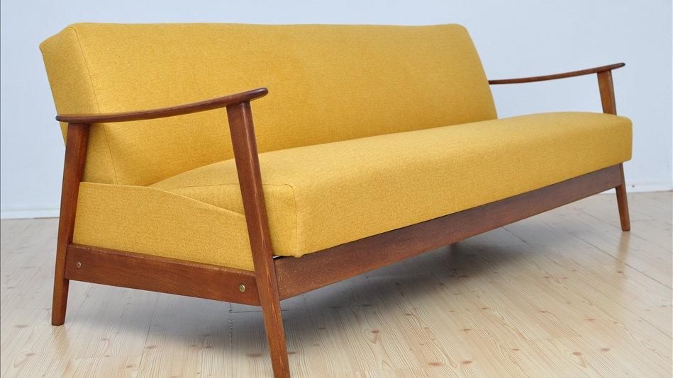 Danish 3 Seat Sofa - Bed Mid Century 1960's
