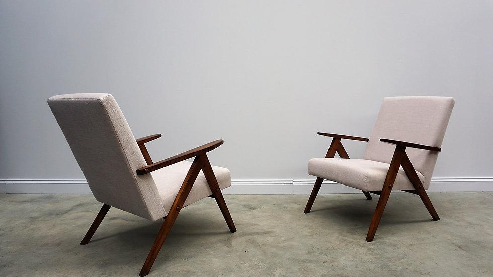 Model B 310 Var Mid Century Easy Chairs in Beige, 1960, Set of 2