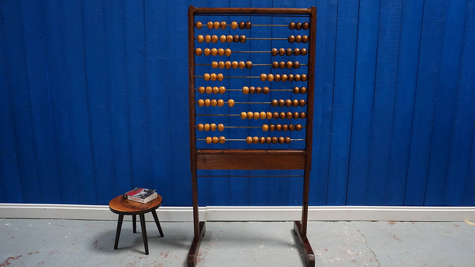 Large Standing School Wooden Abacus from 1960's