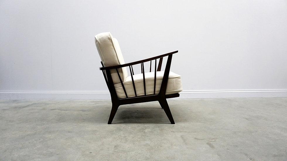 1950 Mid Century Lounger by Wilhelm Knoll for Antimott in Ivory Creme
