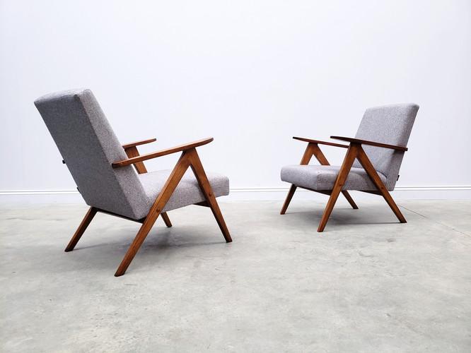 1960 Mid Century Easy Chair Model B - 310 Var in Grey Tweed