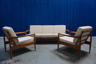 mid century vintage design armchair sofa sitting art deco retro living room set