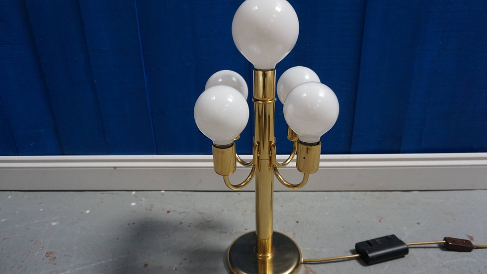 1960 Hollywood Regency Gold Plated Desk Floor Lamp