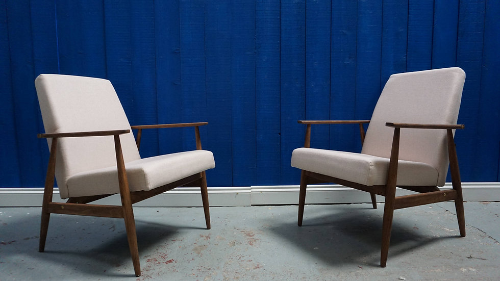 H. Lis Mid Century Armchairs from 1970's, Light Pink, 1 of 2