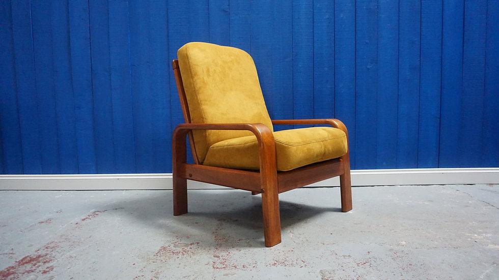 Danish Teak Mid Century Armchair from 1970