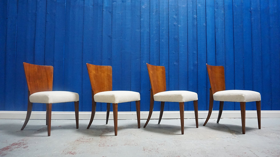 Art Deco Dining Chairs H-214 by Jindrich Halabala for Thonet, 1930
