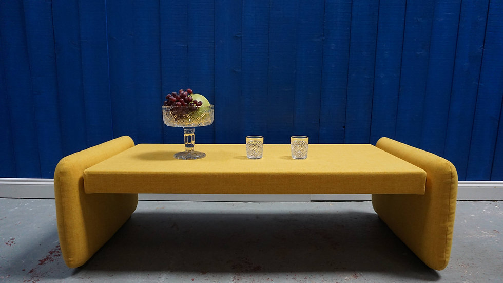 Mid Century Modernist Table in Yellow, from 1960's