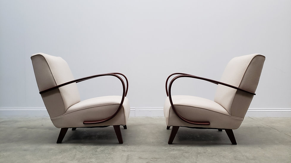 1930 Jindrich Halabala Bentwood Armchairs in Neutral, 1 of 2