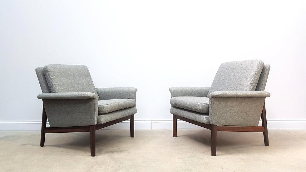 Set of 2 Finn Juhl Jupiter Armchairs for France and Son, Denmark 1960