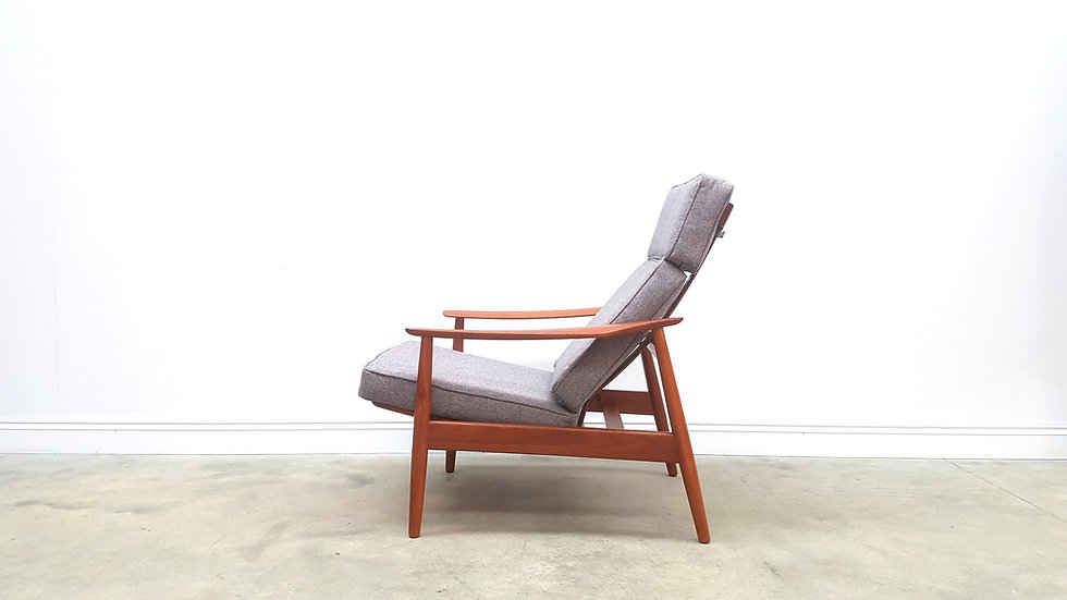 Model FD - 164 by Arne Vodder for France & Søn, High Back Teak Recliner