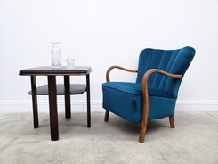 1940 Retro Lounger in Turquoise Upholstery