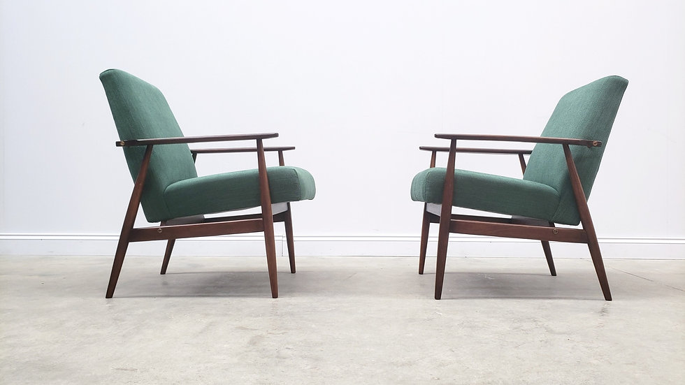 1960 Henryk Lis Mid Century Armchair in Green