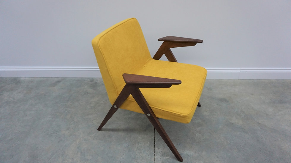 Mid Century Easy Chairs by Chierowski, Model 300-177, in Yellow, 1960, 1 of 3