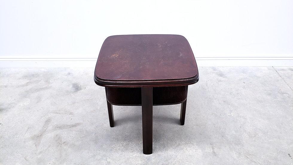 1950 Vintage Coffee Table, Side Table in Dark Brown