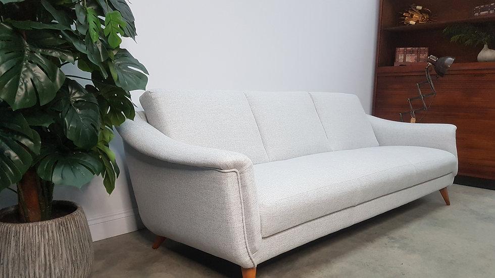 Mid Century Danish 3 Seat Sofa from the 60's, in Grey Tweed