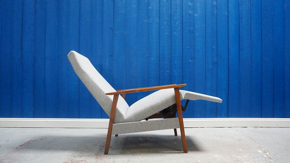 Mid Century Recliner Armchair from 1960's Vintge Danish Design