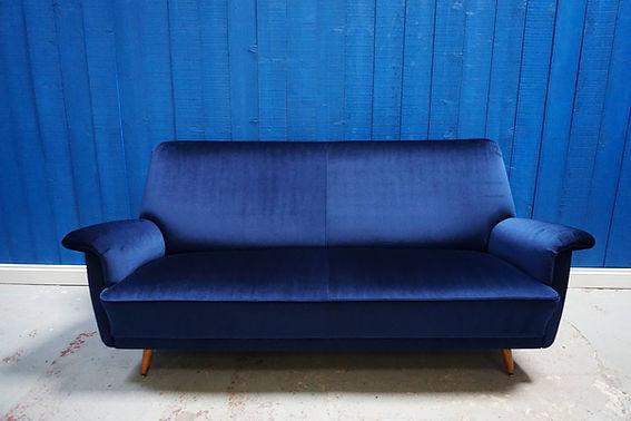 mid century vintage design sofa sitting art deco retro