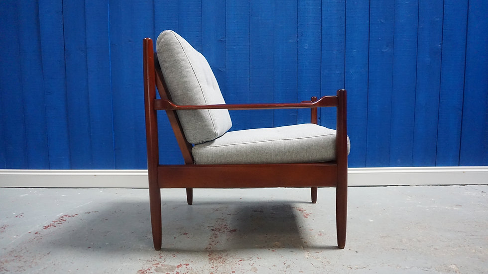 Mid Century Modern Danish Armchair from 1960 High Gloss