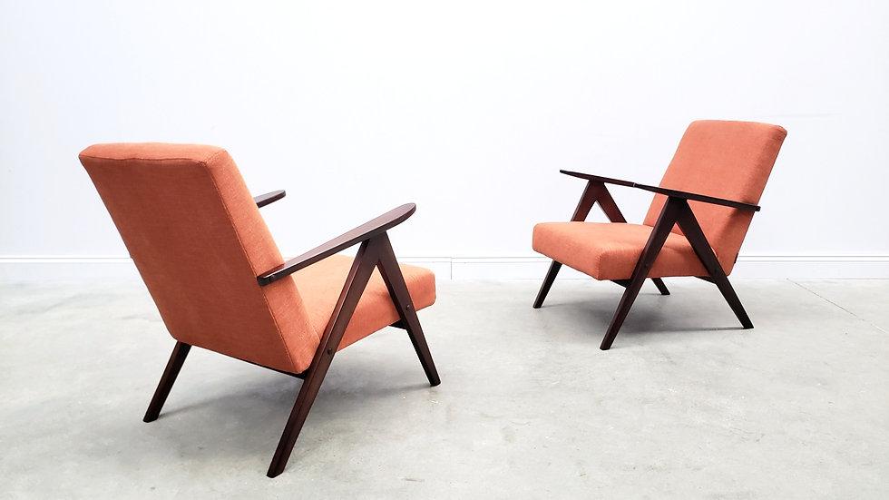 ONE Left - Mid Century Easy Chair Model B - 310 Var in Rusty Orange