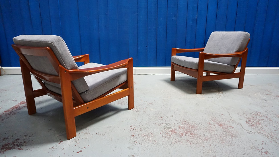 Mid Century Modern Danish Armchair​s 1960's, Set of 2