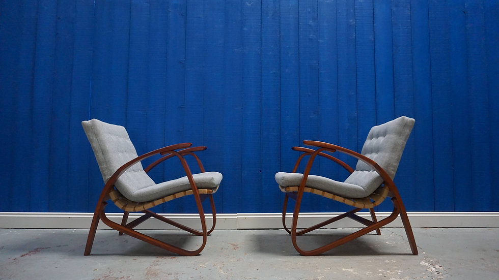 Early 20th Century Czech Armchairs by Jan Vanek from 1930's​, Set of 2