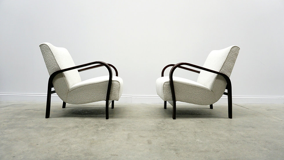 1950 Loungers by K. Kozelka and A. Kropacek for Interier Praha, Boucle