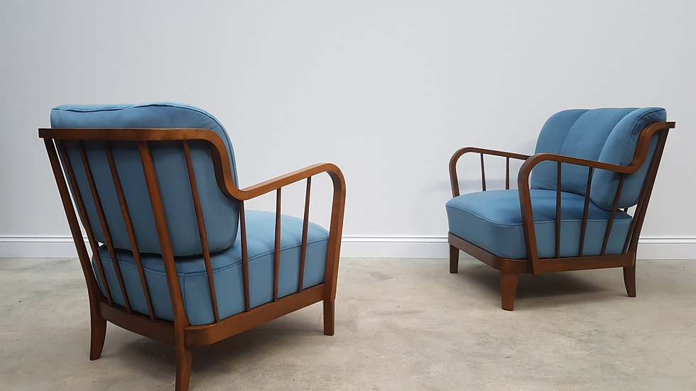 Pair of Mid Century Lounger by Wilhelm Knoll for Antimott, 1950's