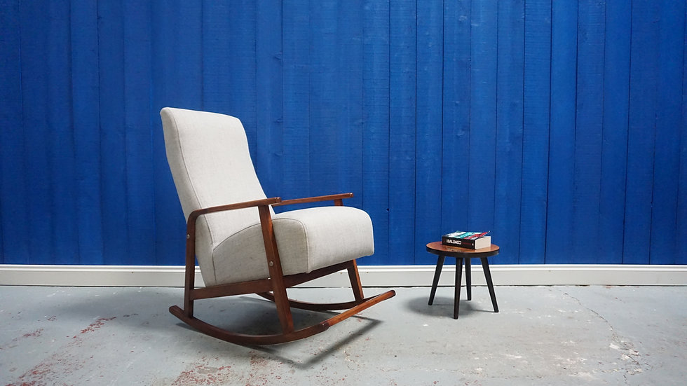 Mid Century Danish Rocking Armchair from 1960's Vintage Chair