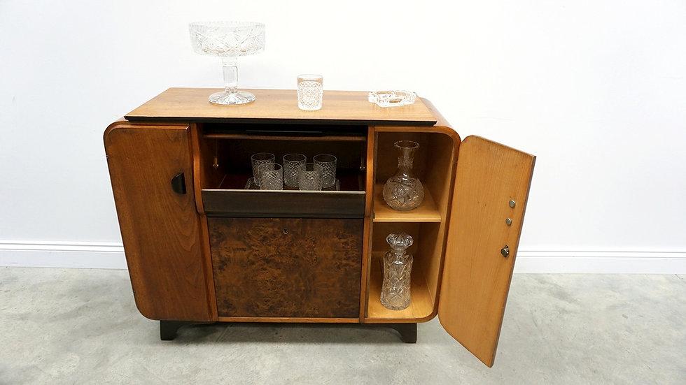 Mini Bar / Gramophone Cabinet By Jindrich Halabala For Up Zavody, 1958