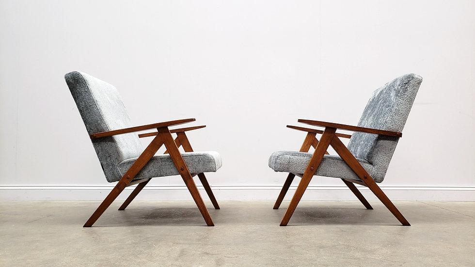 Mid Century Easy Chair Model B - 310 Var in Grey