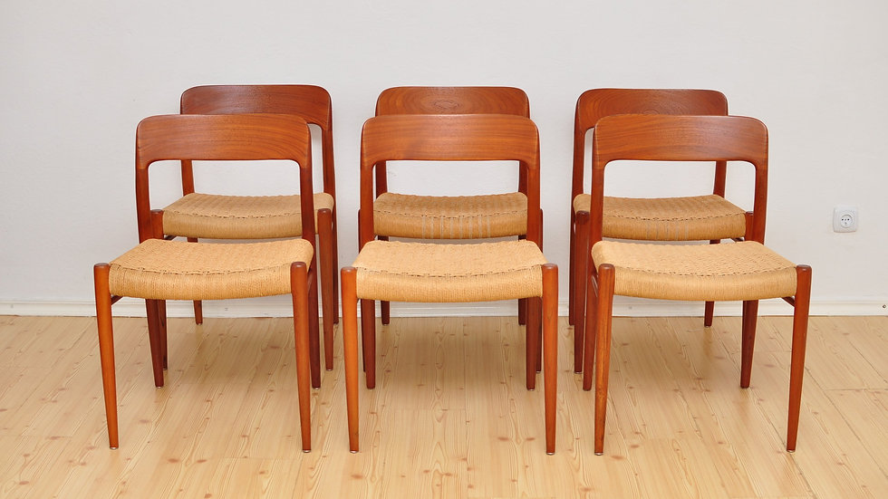Niels Otto Møller Danish Chairs 1950's