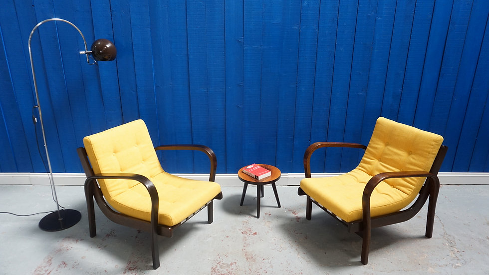 Lounge Chairs by K. Kozelka & A. Kropacek for Interier Praha, 1940s, Set of 2